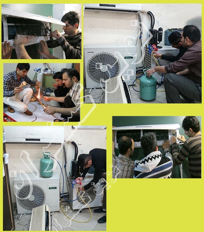 تصاویر کلاس های آموزش کولر گازی اسپلیت