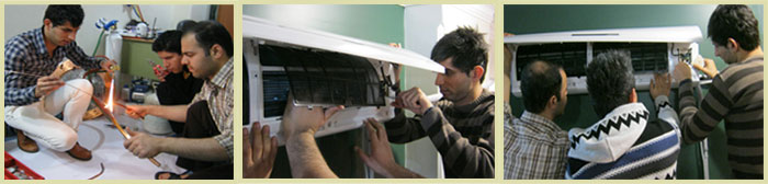 آموزش نصب کولر گازی اسپلیت ، کلاس آموزش نصب و تعمیرات کولر گازی