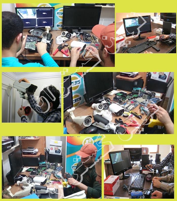 تصاویر کلاس نصب دوربین مدار بسته